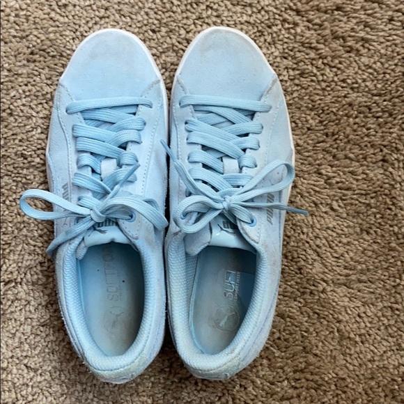 Puma Shoes | Light Blue Sneakers | Poshmark
